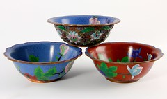 9. Group of Chinese Cloisonne Bowls