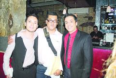 Emanuel Suarez, Martin Fuentes y Franklin Leal