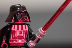 Darth Vader Lego (Stephanie Rutt) Tags: light red toy star lego sabre darth wars vader darthvader