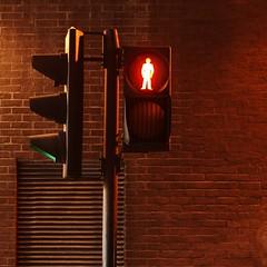 red man (Cosimo Matteini) Tags: city london pen 50mm trafficlight bricks tunnel olympus f18 cityoflondon redman m43 squaremile mft zioko epl1 cosimomatteini