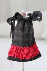 Valentine Dress (Abi Monroe) Tags: valentine clothes cotton blythe 16 fleece suede taylorcouturecashmere