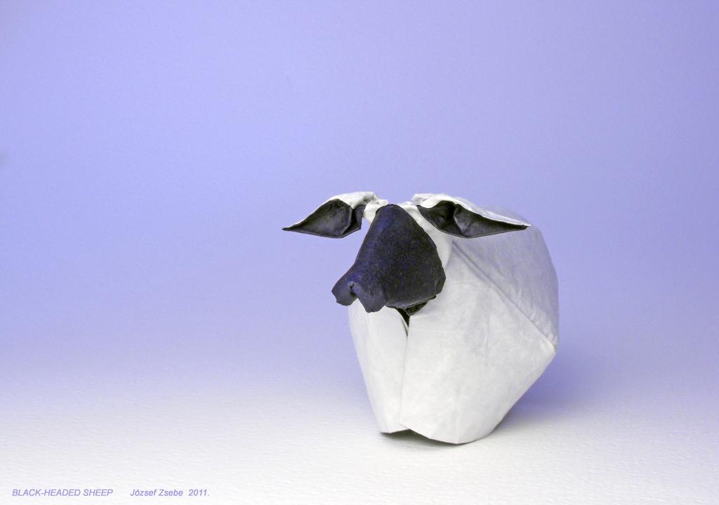 BLACK HEADED SHEEP 2011 Zsebe Origami Tags Sheep Origamisheep