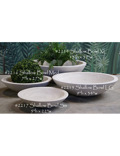 Shallow Bowls Alfresco Decor