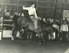 Len competed in rodeo events in rural Alberta