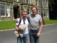 Adilson and English tutor Dave at the Wye House in Buxton