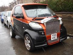 """Smart-Royce"" (GoldScotland71) Tags: 2001 smart car modified rolls grille radiator mcc royce customised y194knc"