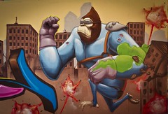 rampage (Pixeljuice23) Tags: monkey gorilla rampage friendlyfire pixeljuice
