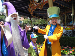 Mad Hatter Messing With Merlin (briberry) Tags: stone alice disneyland disney merlin sword mad wonderland hatter
