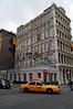 (Laser Burners) Tags: street nyc newyorkcity yellow fire graffiti manhattan taxi tag soho prince cabs extinguisher greene katsu trompeloeil sprayer citynoise btm