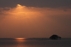 Cloudy (Teruhide Tomori) Tags: sunset lake nature japan landscape    lakebiwa   chikubuisland