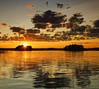 Finland - Sunset over a lake Panorama (I.S.S) Tags: summer sky lake water clouds suomi finland summercabin rautjärvi nikond90 eteläkarjala southkarelia ginordicjan12