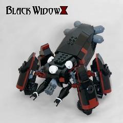 Black Widow (ted @ndes) Tags: anime spider tank lego system blackwidow ghostintheshell armored mecha mech thinktank moc bdr blackdarkred marchikoma