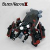 Black Widow (ted @ndes) Tags: anime spider tank lego system blackwidow ghostintheshell armored mecha mech thinktank moc bdr blackdarkred marchikoma