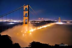 Midnight Fog on the Golden Gate (Darvin Atkeson) Tags: sanfrancisco california bridge fog night suspension foggy goldengatebridge baybridge cruiseship sutro transamerica citybythebay darvin atkeson darv liquidmoonlightcom