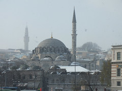 Istanbul in Winter (CyberMacs) Tags: winter snow nature weather turkey season minaret muslim islam religion places istanbul mosque ottoman cami istambul islamic ottomanarchitecture constantinople camii eminn rstempaacamii architecturalstyle rstempashamosque othernames