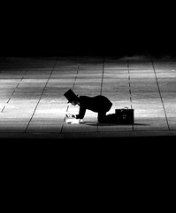 On the Floor (CoolMcFlash) Tags: kneel person stovepipe hat man bag bw black white monochrome actor light spotlight dresscoat ground canon eos 60d tamron b008 18270 theater stage burgenland austria knien zylinder hut mann male tasche sw schwarz weis schauspieler licht frack rampenlicht boden bühne österreich künstler gloves handschuhe floor alone alleine surreal freaky verrückt bizarr bizarre unecht blackandwhite fav10 fav20 fav30 photography fotografie bnw
