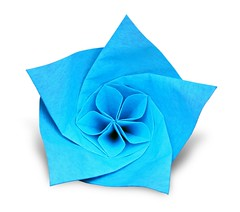 Flower - Evan Zodl (EZ Origami) Tags: evan flower origami korean ez decagon hanji zodl ezorigami
