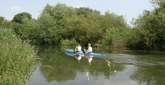 Kayaking on the River Cam, Cambridgeshire (Pat the picture) Tags: summer vacation holiday river relax kayak cam relaxing canoe boating cambridgeshire pastime