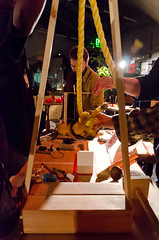 Love Machines Chain Reaction at After Dark (The Tinkering Studio) Tags: contraptions exploratorium afterdark rubegoldberg chainreaction tinkering lovemachines tinkeringstudio