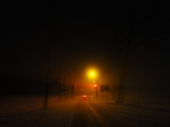 Friday evening, -14C and fog (Stewie1980) Tags: road street winter light snow netherlands fog night canon nijmegen evening nederland powershot barrier gelderland wijchen sx130 bijsterhuizen sx130is canonpowershotsx130is