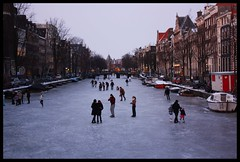 A scene on the ice (anikita_) Tags: winter sunset people cold ice dutch amsterdam evening outdoor sneeuw natuur tradition activity gezellig dutchwinter ijs schaatsen koud ijsplezier