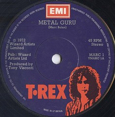 Metal Guru by T.Rex, single 1972 (PaulWrightUK) Tags: uk england music records rock vintage vinyl pop 45 single record 70s glam 1970s 1972 seventies emi trex glamrock marcbolan 45rpm recordcover metalguru tonyvisconti