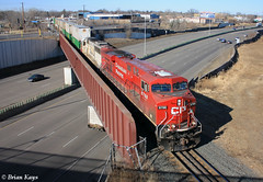 CP 290: I-94, Camden, Minneapolis (bkays1381) Tags: camden canadianpacific ge i94 minneapolismn gees44ac cp8788 soo6039 cp290