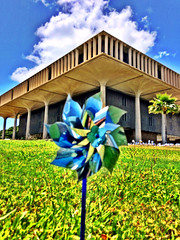 Pin me over the Capitol (Vness Lane) Tags: camera cloud clouds town movement downtown paradise cityscape oahu lawn capitol honolulu blueskies pinwheel streetscape hdr greatlawn urbanscape ip iphone clearday preventchildabuse hdrish iphone5s capitolevent hiscape parascape