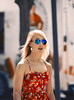 Girl from thunder (Emmanuel RA) Tags: travel red sun cute sol girl beauty mouth glasses evening pretty dress kentucky young lips blonde rubia louisville thin retouch lentes thunder
