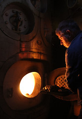 Richard fires the boiler (chessieboater) Tags: scotland puffer vic32