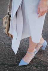 Ladylike Spring/Summer look: Pastel grey assymetric hem midi skirt, grey strappy heels| Not Dressed As Lamb (Not Dressed As Lamb) Tags: summer white fashion grey spring style tshirt skirt blogger midi relaxed fashionista tee ss16
