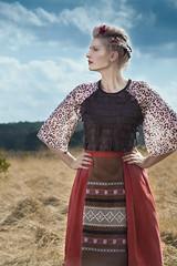 VESNA ss16 collection (version 1) (Martina Marekova Kuipers) Tags: netherlands fashion outdoor handmade folklore womens slovakia veluwe centraleurope ethical fashioncollection slowfashion