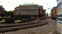 Jan Palach Square (talien73) Tags: street old city building architecture town university prague tracks replacement tram philosophy praha repair faculty reconstruction