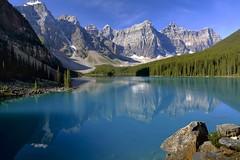 Wonderful view Moraine lk. (John Andersen (JPAndersen images)) Tags: blue mountains glacier alberta banff morainelake