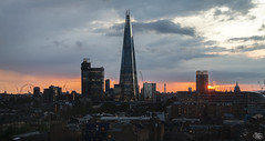 London Sunset (Umbreen Hafeez) Tags: city uk houses light sunset england building london eye tower st skyline architecture buildings europe cityscape cathedral outdoor pauls gb shard bt