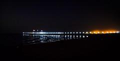 Beautiful Night By The Beach (Hazem Hafez) Tags: beach night jetty egypt moonlight peer
