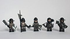 The Black Falcons (11inthewoods) Tags: castle lego knights minifig minifigs custom falcons minifigures kreo customcrazy figbarf brickwarriors