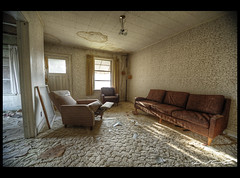 Living Room 2 Web (David Crombie Photography) Tags: urban house abandoned nikon decay exploring tokina forgotten hdr urbex 1116 d700