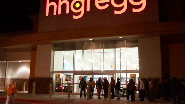 #BlackFriday at HH Gregg, 11:30pm