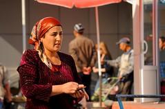 Uzbekistan, Fergana Valley, Fergana, Local Market, Uzbek Woman (MY2200) Tags: woman ancient muslim islam mosque silkroad bazaar uzbekistan centralasia fergana bazar islamicarchitecture usbekistan uzbek localmarket ferganavalley medressa ferganavalleylocalmarket