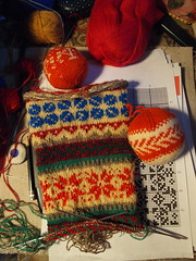 The creative process. (tarelkaz) Tags: macro socks crazy knitting folk knit process stranded fairisleknitting folkknitting olympuse450