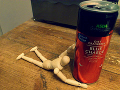 Art Every Day - Day 29 (flailing DORIS) Tags: november art mannequin wooden energy artist day drink every month