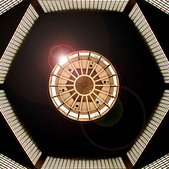 Decompress (Arni J.M.) Tags: roof light berlin window lines architecture germany circle geotagged design gallery hexagon lamps geotag flair gemäldegalerie nikond80 octadecagon