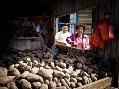 Sweet smile (imsuri) Tags: china light portrait people man smile iii chinese streetlife chinadigitaltimes 365 ricoh nanning guangxi 2011 grd  project365 streetsnap sweet 335365 potatoes