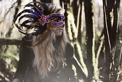 Masked (wakeupbaylee) Tags: portrait nikon mask feathers masks hide blonde d200 masked wakeupbaylee baileydennisphotography