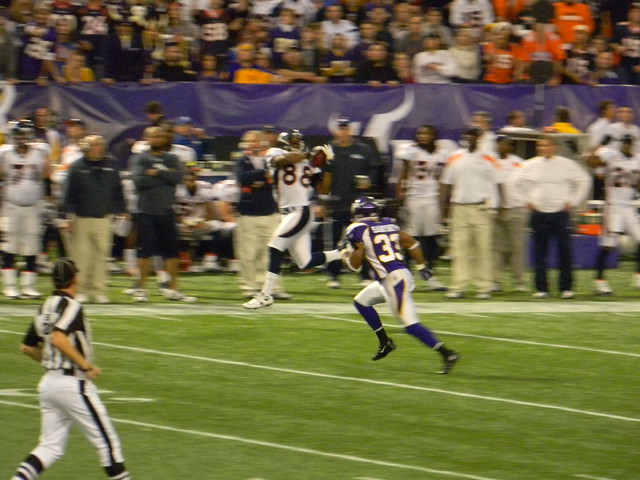 DEMARYIUS THOMAS hauling in another long catch down the sideline
