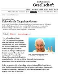 Frankfurter Allgeneine (Ronnie Biggs The Album) Tags: ronnie biggs greattrainrobbery oddmanout ronniebiggs ronaldbiggs