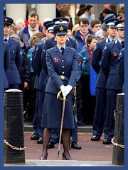 Liverpool University Air Squadron (* RICHARD M) Tags: street candid military poppy poppies sword uniforms cenotaph remembrance airforce southport raf remembrancesunday sefton royalairforce liverpooluniversity armedservices liverpooluniversityairsquadron