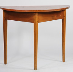27. American Primitive Demilune Table