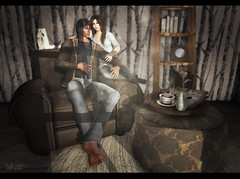 {At His Side} (Trinetty Skytower) Tags: digital photography model chair couple avatar sl secondlife virtual poses prop ooostudio nordari lispbazaar